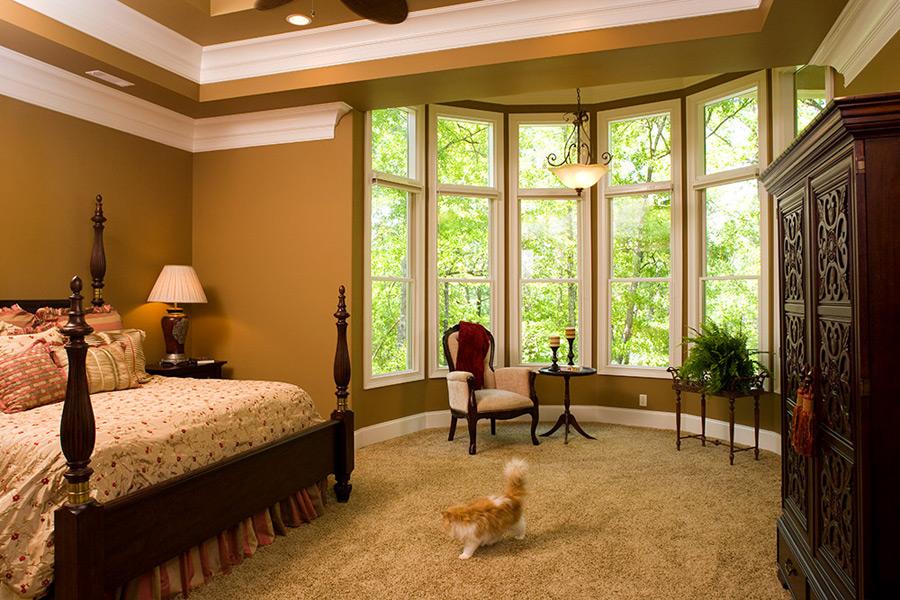 elegant bedroom of new home