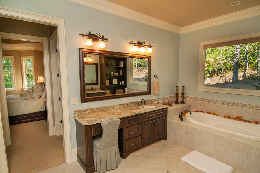 elegant bathroom of new home