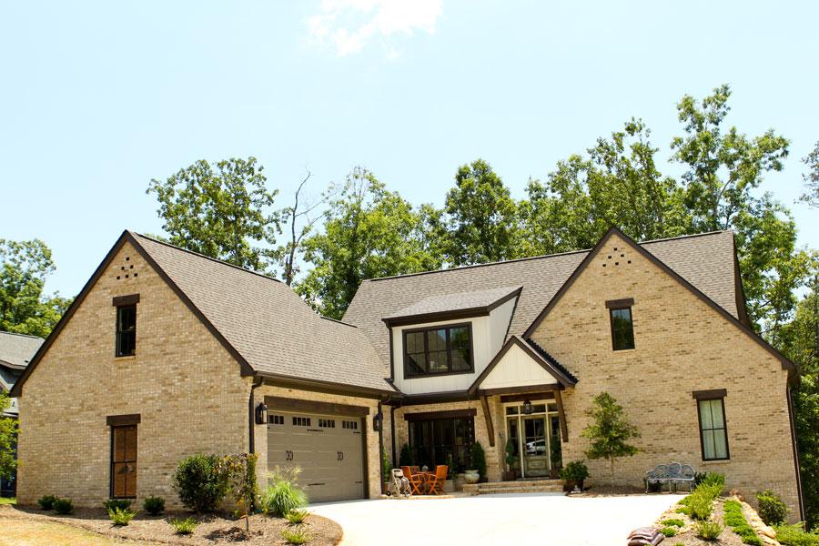 driveway of new custom built home