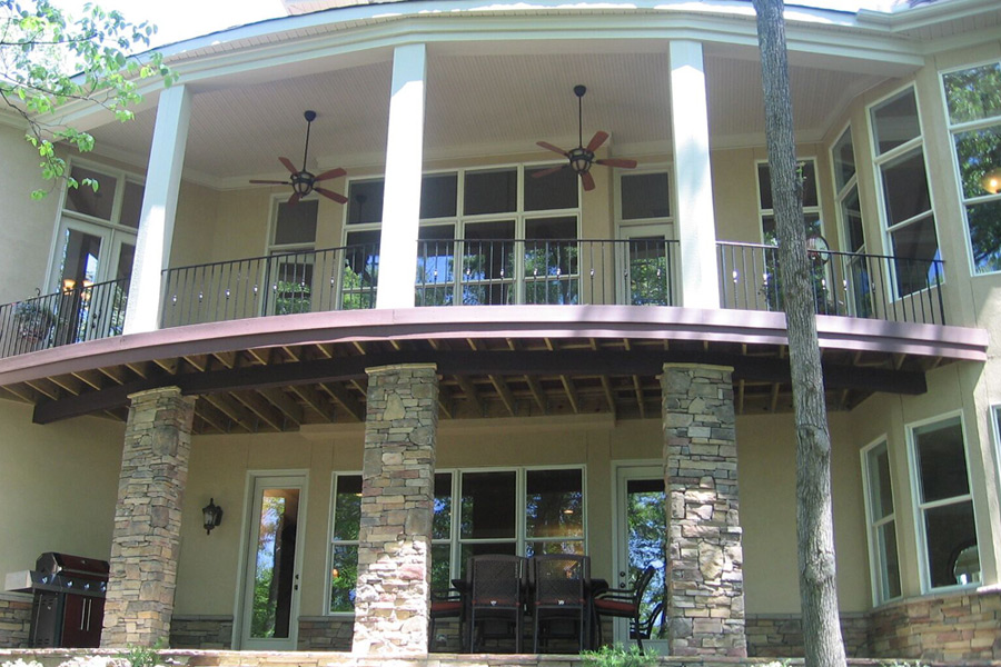 large outdoor porches